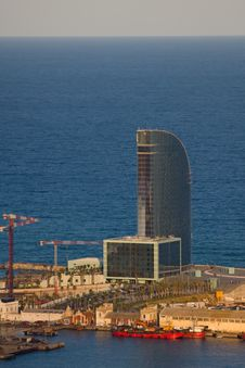 Free View To The Coast In Barcelona Stock Photos - 15007463