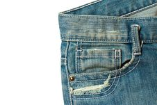 Free Isolated Of Jeans Royalty Free Stock Image - 15007846