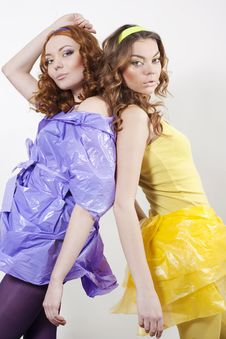 Free Two Attractive Young Women Stock Photography - 15007942