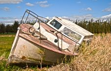 Free Vintage Abandoned Boat Stock Photo - 15008320