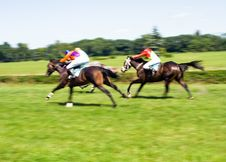 Free Horse Racing, Motion Blur Stock Photography - 15008352