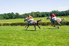 Free Horse Racing On Racecourse Stock Image - 15008361