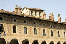 Ducale S Palace - Vigevano Royalty Free Stock Image