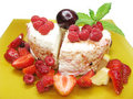 Free Fruit Dessert With Dairy Pudding Royalty Free Stock Photography - 15014367