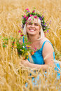 Free Woman In Wreath Of Flowers Royalty Free Stock Photos - 15018258