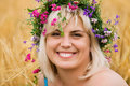 Free Woman In Wreath Of Flowers Stock Image - 15018271