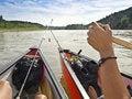 Free Two Canoeists Canada Paddling Stock Image - 15019221