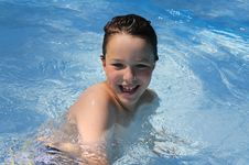 Free Happy Boy In Pool Royalty Free Stock Image - 15010406