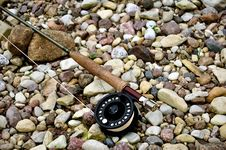 Free Fly Rod With Reel Royalty Free Stock Images - 15010489