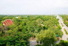 Free Flat Landscape In Central Thailand Stock Photography - 15010652