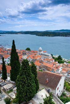 Mediterranean Town Sibenik, Croatia Stock Photo
