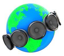 Sound Around Earth Royalty Free Stock Image