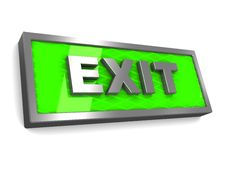 Free Exit Sign Stock Photo - 15011690