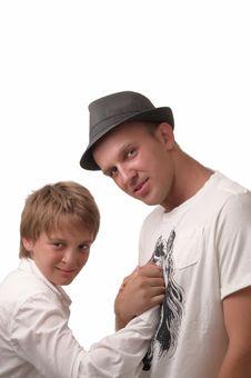 Free A Boy And A Young Man. Stock Photos - 15011963