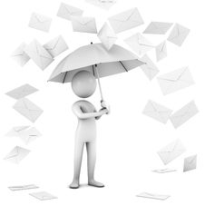 Free Rain Of Mail. Royalty Free Stock Photo - 15012025