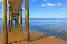 Under The Wharf Royalty Free Stock Photography