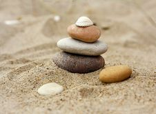 Free Stones At The Sea Side Royalty Free Stock Image - 15014026