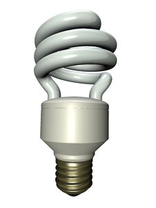 Compact Fluorescent Lamp Royalty Free Stock Photo