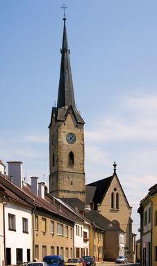 Church St. Thomas Of Canterbury - Mohelnice Stock Photography