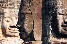 Bayon Temple, Angkor Thom Stock Photos