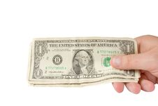 Free Holding Money In Hand Royalty Free Stock Photography - 15014887