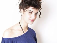 Free Young Woman In Blue T-shirt Stock Photo - 15014950