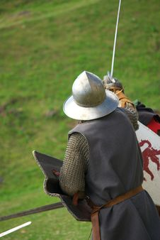 Medieval Knight In Battle Royalty Free Stock Photo
