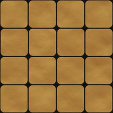 Free Seamless Texture Made Of Yellow Square Tiles Royalty Free Stock Image - 15015096