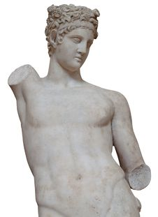 Isolated White Marble Statue Of A Man Royalty Free Stock Photo