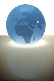 Free Glass Sphere With Map Royalty Free Stock Photography - 15015647