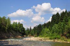 Mountain Small River. Royalty Free Stock Photo