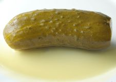 Free Juicy Gherkin With Brine Stock Images - 15015714