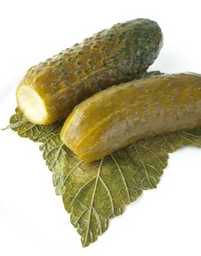 Free Marinated Cucumber With Leaf Stock Photos - 15015743