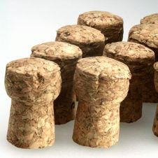Wine Bottle And Cork Royalty Free Stock Photo