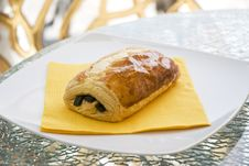 Free Chocolate Croissant Royalty Free Stock Image - 15015786
