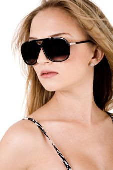 Free Portrait Of Trendy Women With Black Sunglasses Royalty Free Stock Photo - 15017775