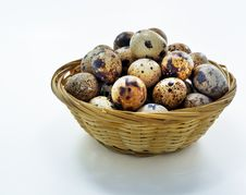 Free Eggs Of Quails In Basket Royalty Free Stock Images - 15017799