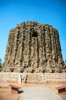Qutb Minar Ruins In The City Of Delh Royalty Free Stock Images