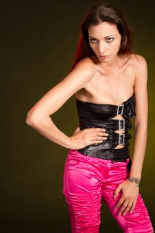 Young Fashion Sexy Fashion Model Stock Photo