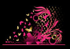 Free Floral Abstract Banner With Blots Stock Photography - 15018202