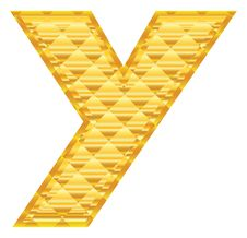 The Alphabet Letter Y Royalty Free Stock Photography