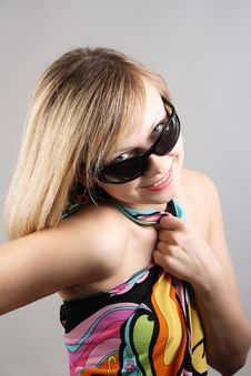 Free Portrait Of Girl With Sun Glasses Stock Image - 15018351