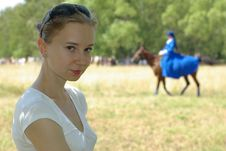 Free Girl And A Horsewoman Stock Photos - 15018673