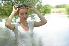 Free Girl Near The Lake Royalty Free Stock Photography - 15018707