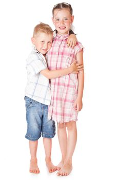 Free Little Boy And Girl In Love Royalty Free Stock Image - 15018956