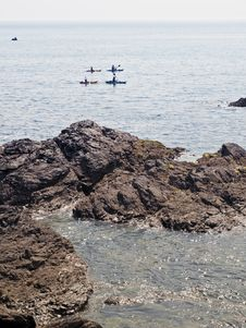 Free Anglesey Coast Canoes Wales Stock Photos - 15018993