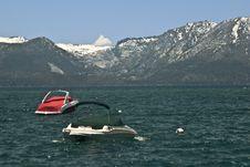 Boats At Lake Tahoe Royalty Free Stock Image