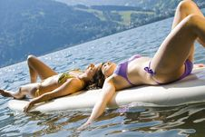 Free Girls On Surfboard Royalty Free Stock Photos - 15019868