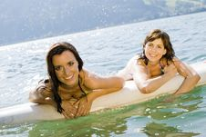 Free Girls On Surfboard Royalty Free Stock Photography - 15019897