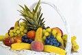 Free White Fruit Basket Royalty Free Stock Images - 15024679